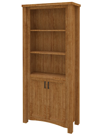 Dakota Wooden Door Bookshelf in Como Maple