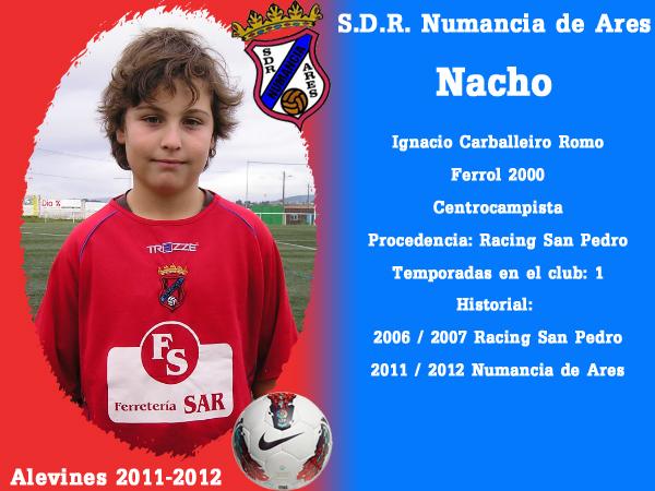 ADR Numancia de Ares. Alevíns 2011-2012. NACHO.