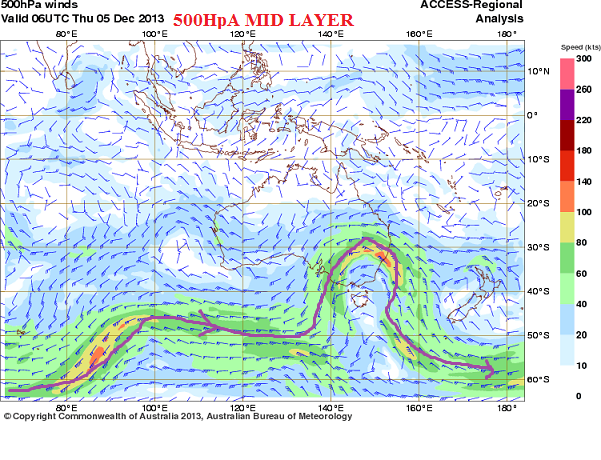 5th dec 2013 500 hPa trough