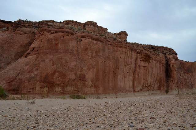 a large and eroded fissure