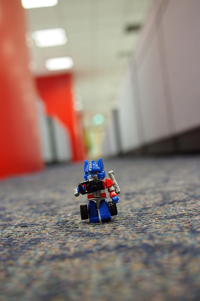 Kreon Optimus Prime with a minifig camera accessory