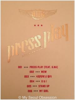 My Seoul Obsession: BtoB: Press Play 2nd Mini Album Review