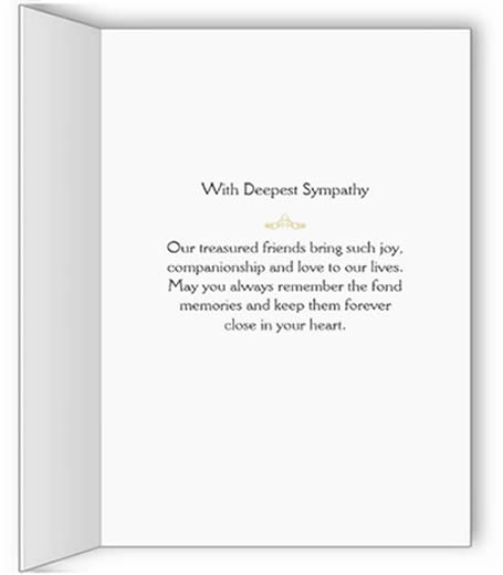 words used to describe dog  inside of dog sympathy card