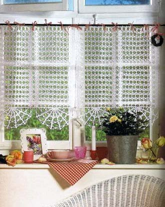 cortinas de crochet