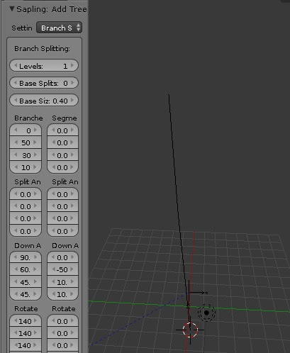 blender sapling branch splitting levels 1