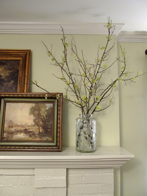 Cottage Hill: Spring Mantel -- Decorating with (Faux) Spring ...