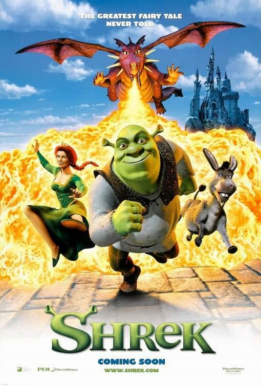 Poster Of Shrek (2001) Full Movie Hindi Dubbed Free Download Watch Online At Alldownloads4u.Com