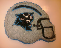 Carolina Panthers birthday cake