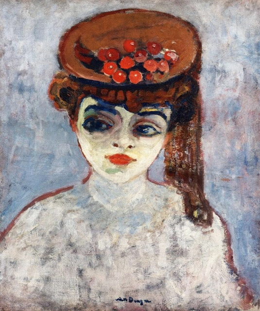 Kees Van Dongen - Hat with Cherries.