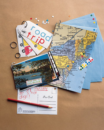 Take a trip down memory lane with a ring-bound scrapbook.