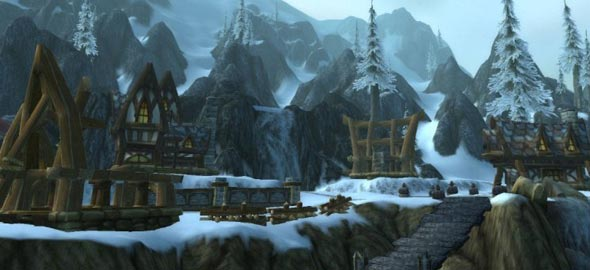 Cenário do MMORPG World Of Warcraft.