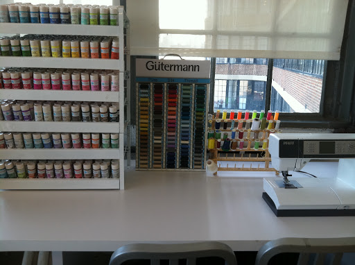 A very tidy sewing/ paint station!