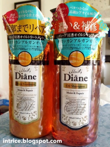 Moist Diane Shampoo and Conditioner with Argan Oil (Moist and Repair) -- intrice.blogspot.com