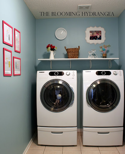 laundry room blue