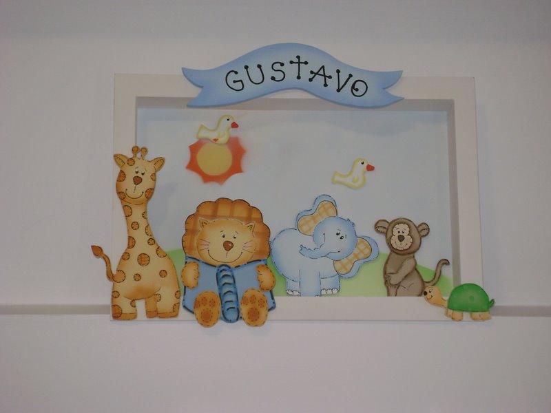 Ateliê Colorê Decoração de quartos infantis Porta maternidade bichinhos do Zoo