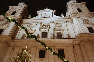 Salzburg Cathedral at Christmastime in Austria