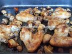 Aripioare de pui marinate la cuptor cu ciuperci preparare