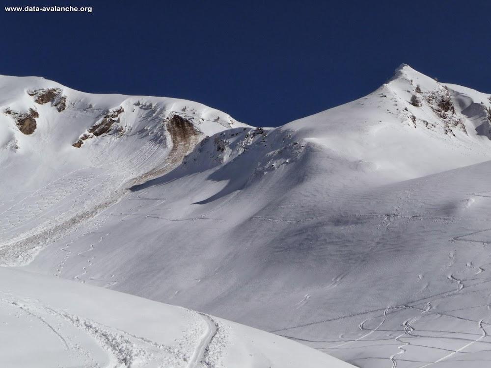 Avalanche Aravis, secteur Tête de l'Aulp, Observée depuis l'Aulp de Fier d'en haut - Photo 1