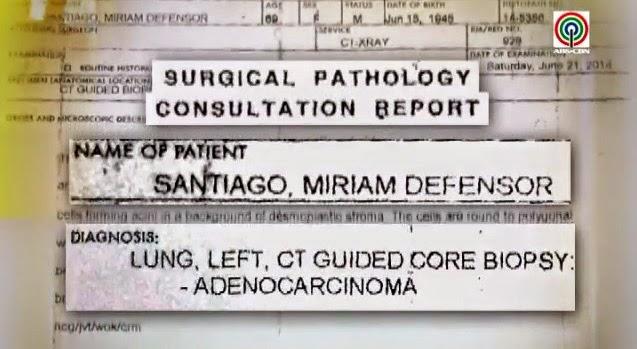 video miriam santiago i have lung cancer 01 07-03-2014