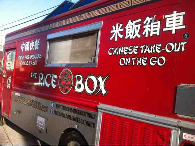 Houston Food Truck Reviews The Rice Box Sesame Chicken