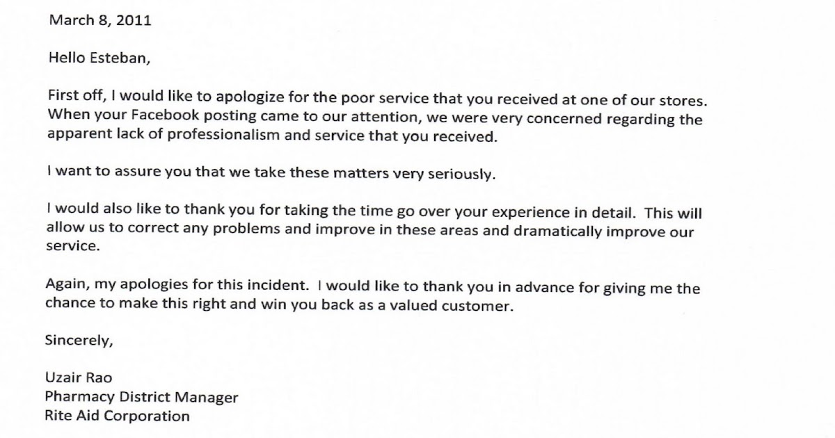 Rite aid pharmacy and store apology letter to esteban escobar rite aid pharmacy and store apology letter to esteban escobar steven escobar ccuart Images