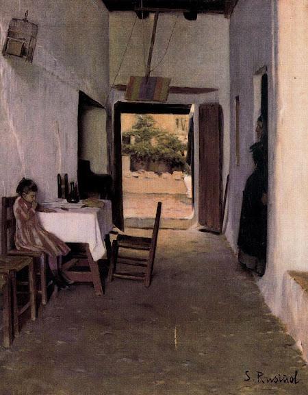 Santiago Rusiñol - Patio de Sitges (Interior)