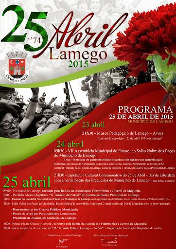 Programa - Comemorações 25 de Abril - Dia da Liberdade em Lamego