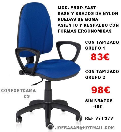 Muebles oferta kit sillas de oficina y ordenador for Muebles sillas oferta