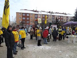 Sie wird es freuen - Polen, die in Koszalin gegen ein mögliches AKW bei Mielno protestierten. (Bild Archiv gemeinde-tantow.de)