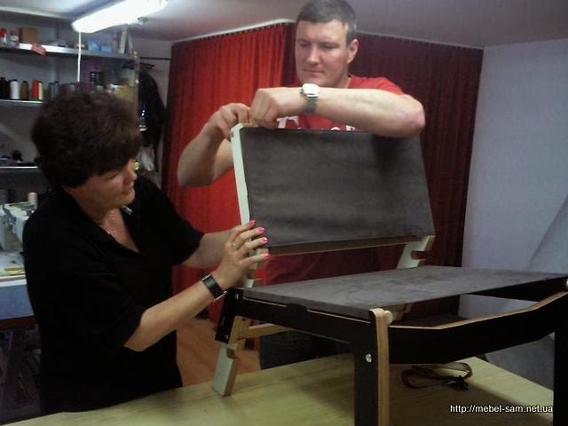 Процесс сборки фанерного стула