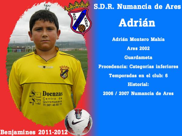 ADR Numancia de Ares. Benxamíns 2011-2012. ADRIAN.