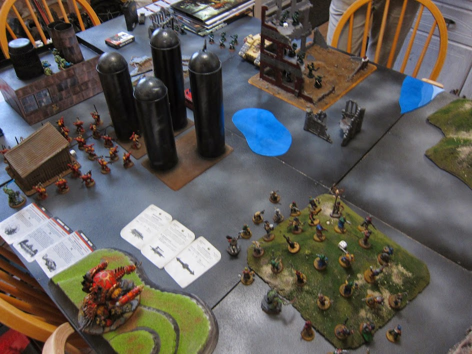 2nd 7th edition game! Chaos vs Dark Angels | Hammertime 40K