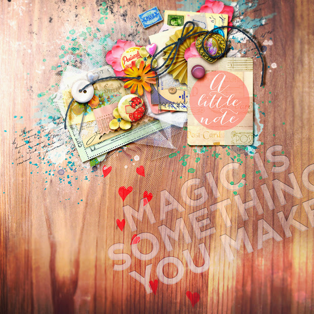 Magic is Something You Make // Scrapbook Layout // 12x12 // truly, madly, deeply by Juliana Kneipp