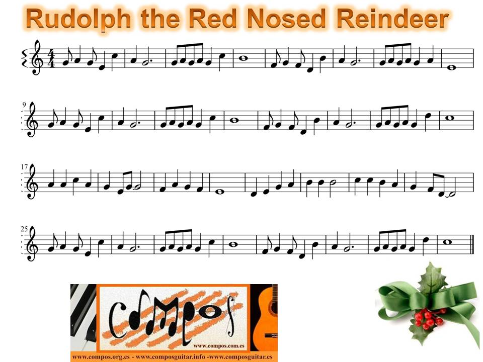 Rudolph The Red Nosed Reindeer Chords images