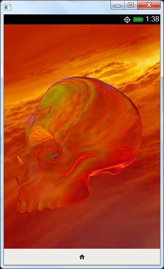 กระโหลกแก้วแบบสามมิติสร้างด้วย WebGL