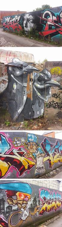 Stunning graffiti and street art found on Northcote Street Lane, Cardiff #graffiti  #graffitiart  ...