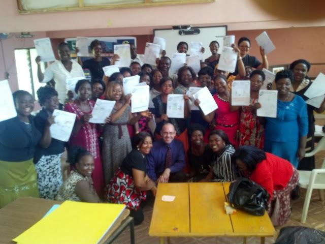 Dr. Michael Bitz with schoolteachers in Nigeria