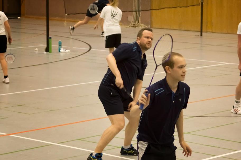 Jochen und Christian im zweiten Doppel