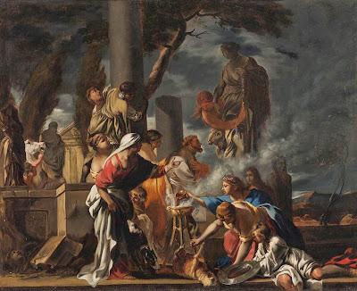 Sébastien Bourdon - King Solomon Sacrificing To the Idols