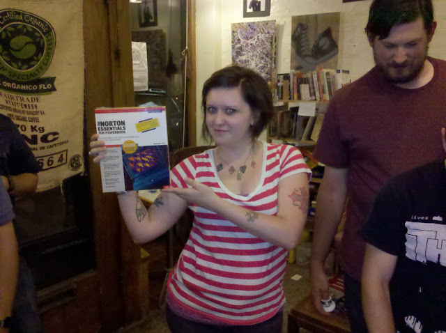 Meg showing off her free dc414 junk