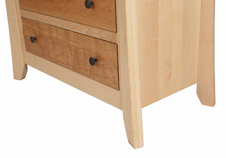 Kyoto Vertical Dresser in Natural Hard Maple and Cherry