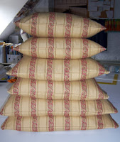 Chatham Glyn fabric made up into various size cushions
