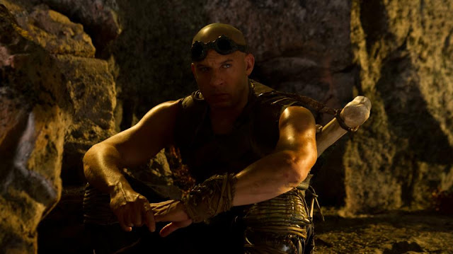 Riddick Vin Diesel on the set