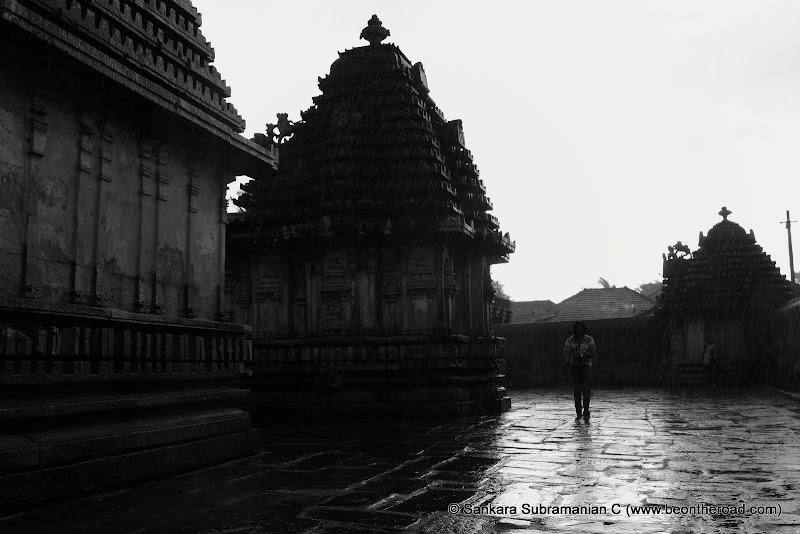 In the rain at Doddagaddavalli Lakshmi Devi Temple