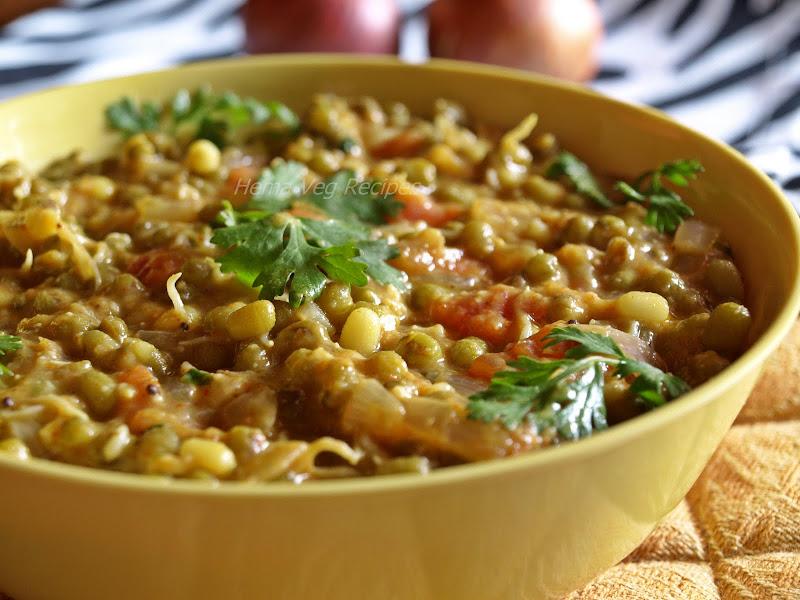 Green Lentil Or Mung Bean Curry Vegetarian Recipes