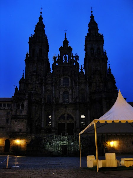 Kathedrale von Santiago am frühen Morgen