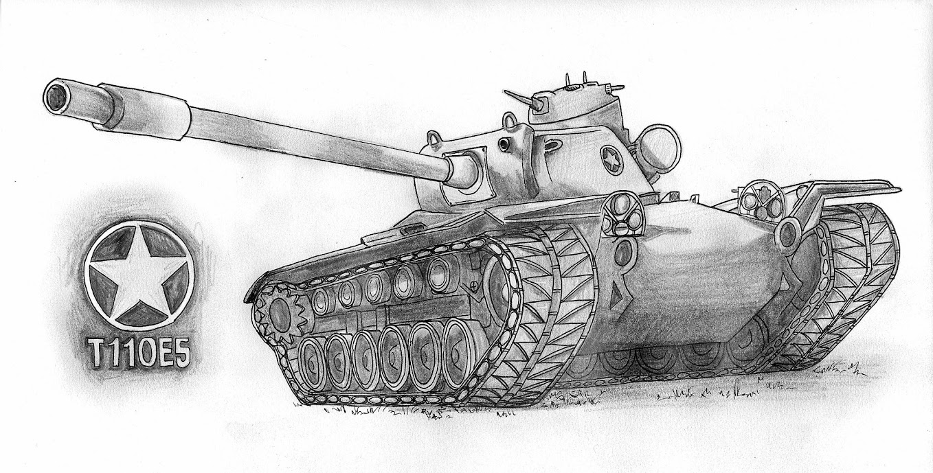 T110E5 Pencil Art - Other - World of Tanks official forum