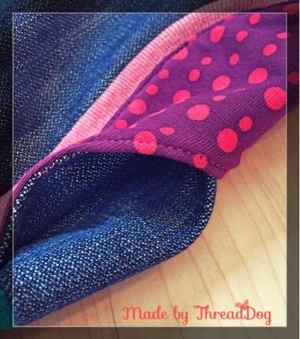 Pumphose aus Jeans mit Taschen - Tasche Innenansicht
