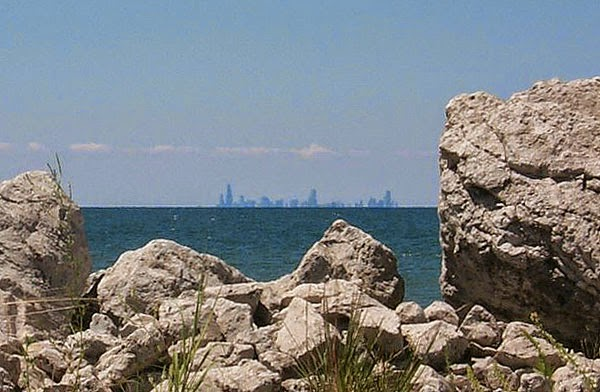 Chicago Skyline seen from Burns Harbor, IN
