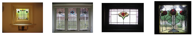 Artarmon NSW, examples of Transition style leadlight windows